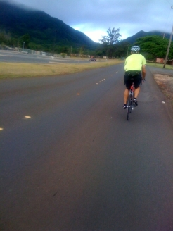 The glow in the gap beyond John is Kolekole Pass.