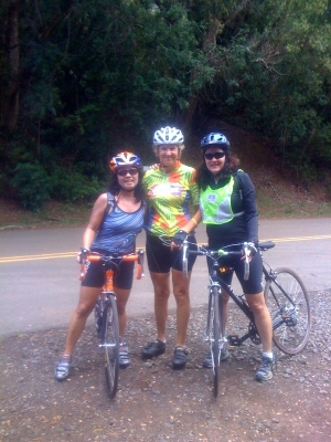 Linda, Patricia and Shirley at the top of Kolekole Pass.