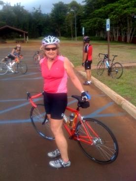 I'm a weekend warrior on my bike!