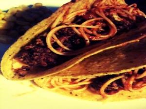 spaghetti taco, ole!
