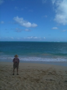 Brisk and windy at Waimanalo Beach