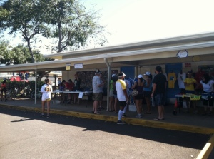 Waikiki Elementary School was the site for the Haleiwa Metric Century packet pickup.