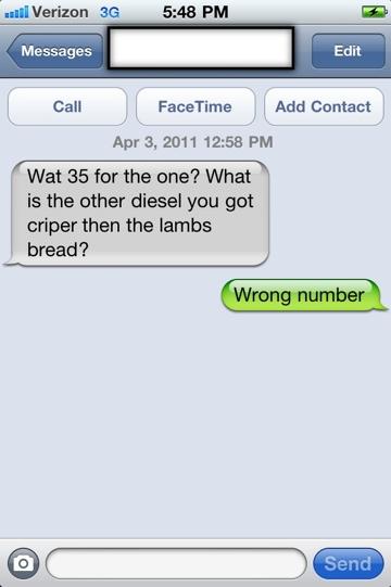 Did Verizon give me a drug dealer's phone number? (2/4)