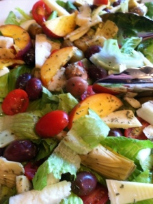 Anti pasti salad by Kimberly, whom bears a striking resemblance to Giada DeLaurentis.