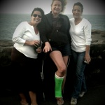 Mary Jean, me in my green cast, and Tina. May the Jersey Gal Force Be With You. Photo by John, March 2010.