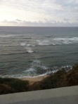 Yesterday I took this shot at Diamond Head Lookout. Little wave action, but breezy!