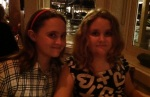Kid1&2 at Asaggio's Hawaii Kai for my birthday dinner.