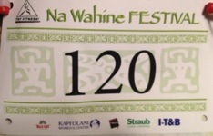 My number. Came in 87th overall out of nearly 300. Yay!