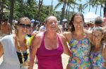 "Kristin, Paula, Sonya, Yvette. Kristin and Yvette are training for Ironman Kona. This was a good workout for them. As you can see, I'm like, ""PHEW!"""