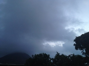 Lots of clouds, wind, and rain in Hawai'i lately!