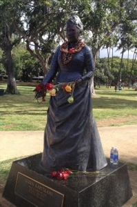 Queen Kapiolani. Many events begin and end at her park between Waikiki and Diamond Head.