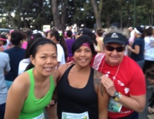 Colleagues Val Yamamoto and Dara Hubin and I were part of the 1,440 finishers in the HPH Women's 10k run. They both did great!