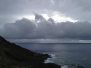 Sun, clouds, sea, Ka Iwi.
