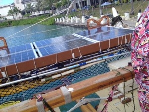 Solar panels to power the lights required for night sailing are a modern embellishment.