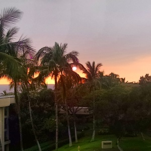 Sunset at Hapuna Prince Hotel.