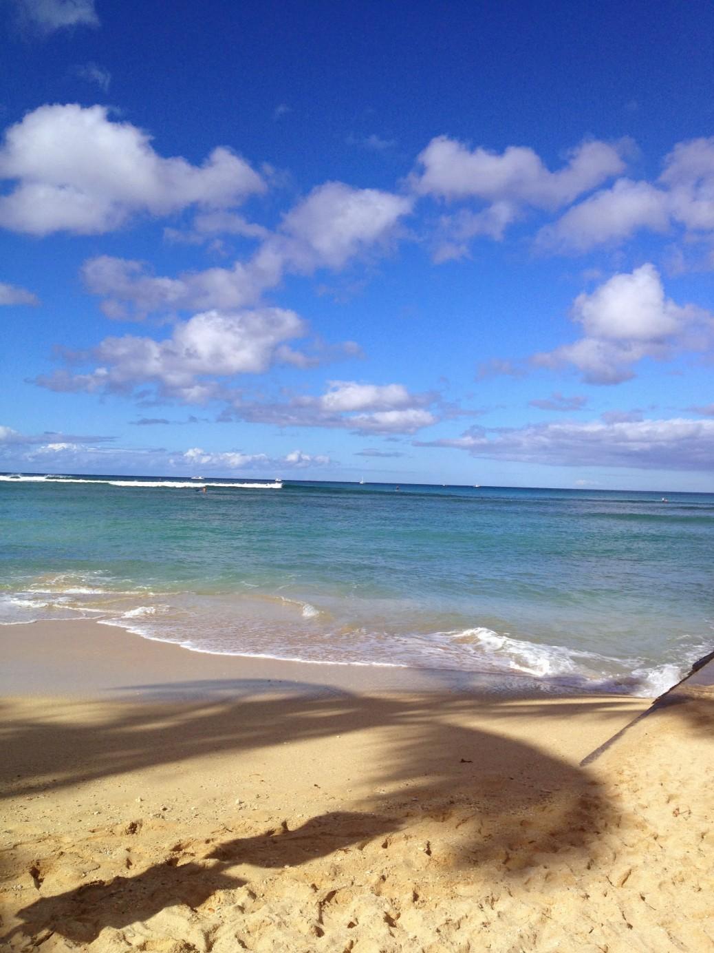 Waves outside Waikiki.