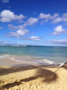 Waves outside Waikiki.